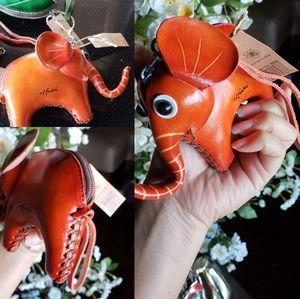 Handbags - Handcrafted Genuine Leather Elephant Coin Purse Wa